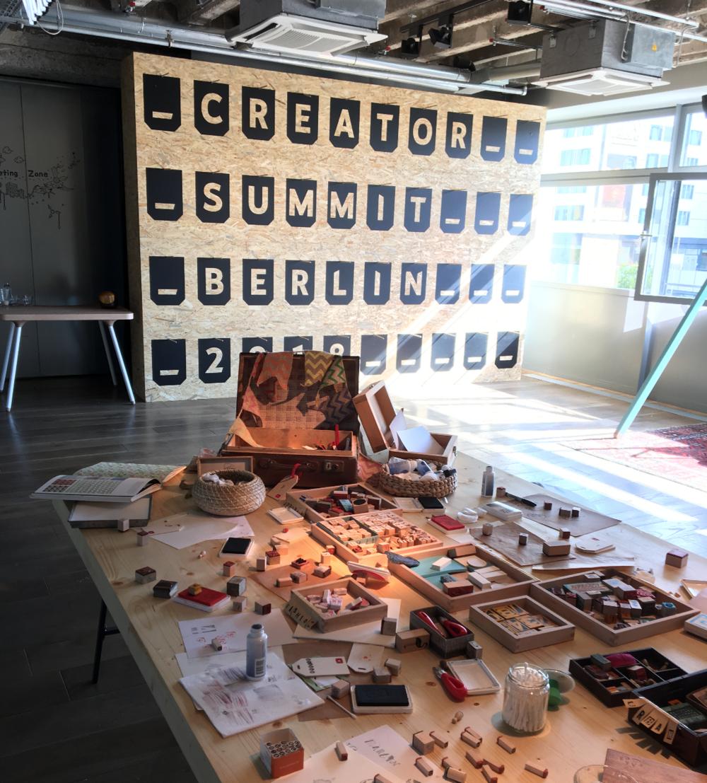 YouTube, Creator Summit 2018, Berlin, 25hours Bikini Hotel, Print workshop, Art Experiences Berlin, Creative Workshop Berlin