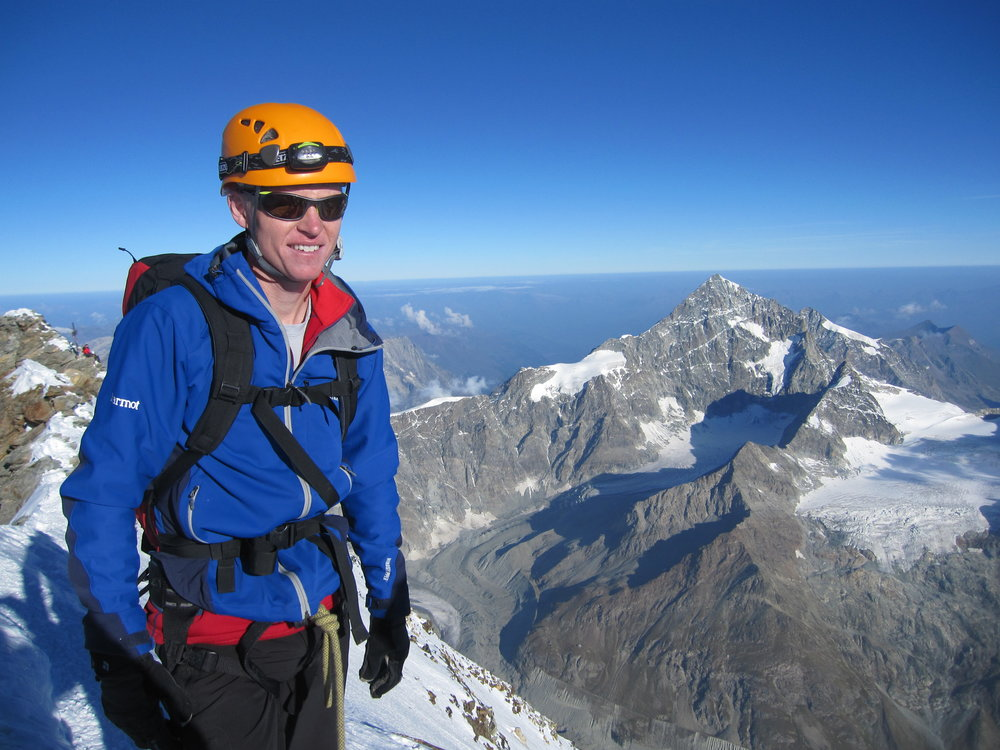 On top of the Matterhorn on September 9, 2012.