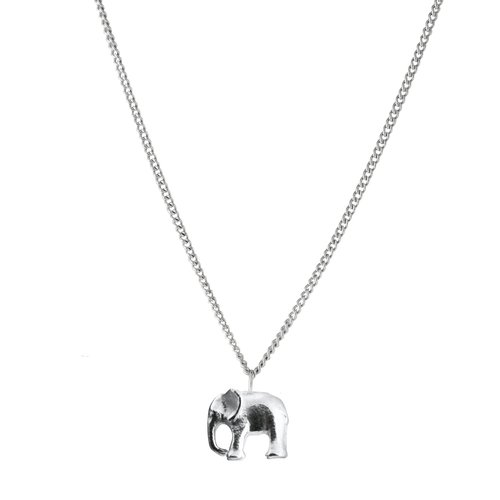 silver chain products in necklace double sparkling elephant women crystal copy pendant gold of
