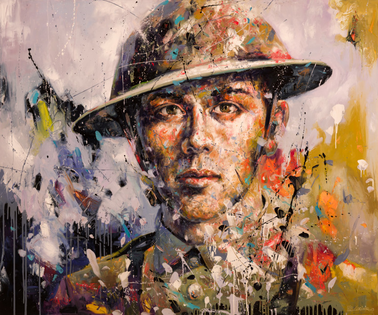"Face of War (60"" x 72"")"