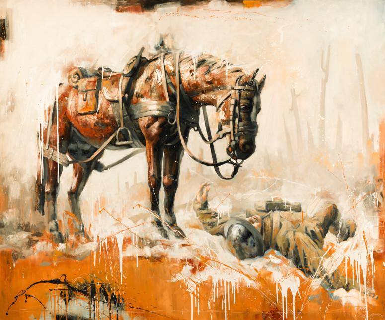 """War Horse (60"""" x 72"""")"""