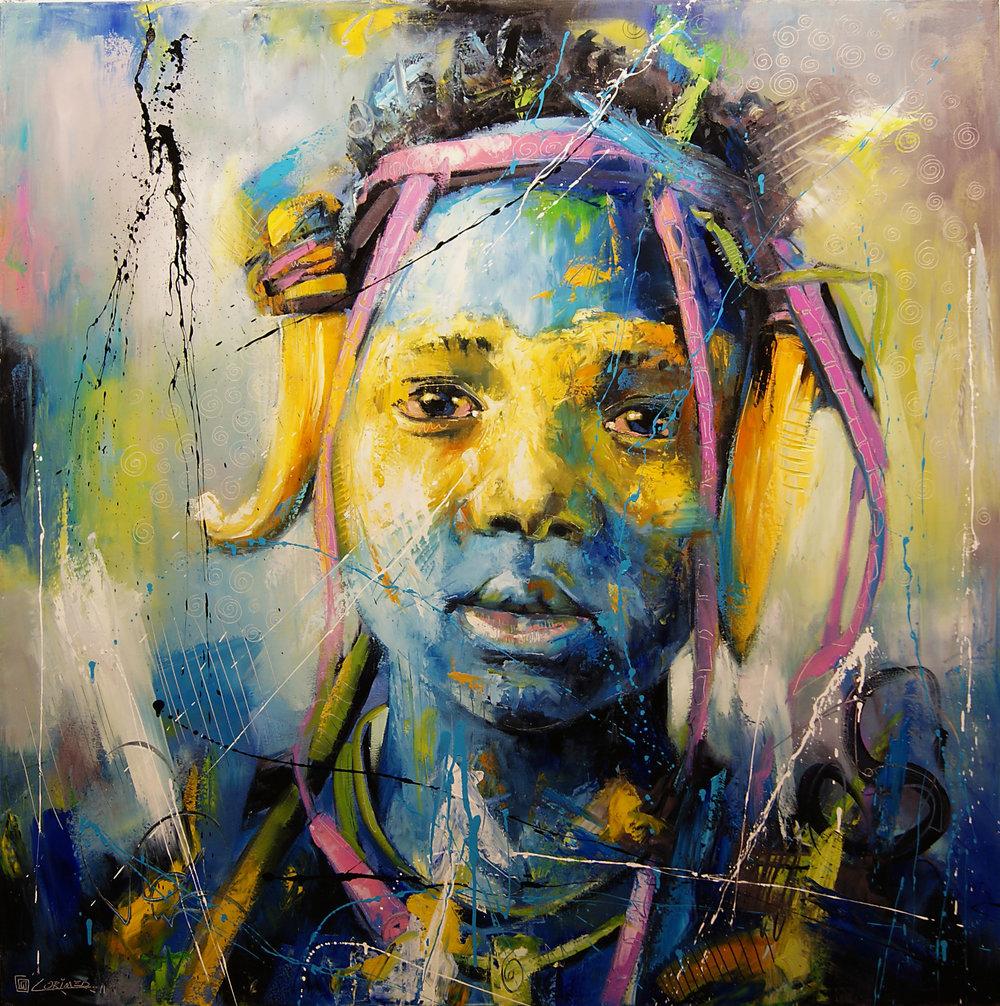 """Boy Blue (48"""" x 48"""")"""