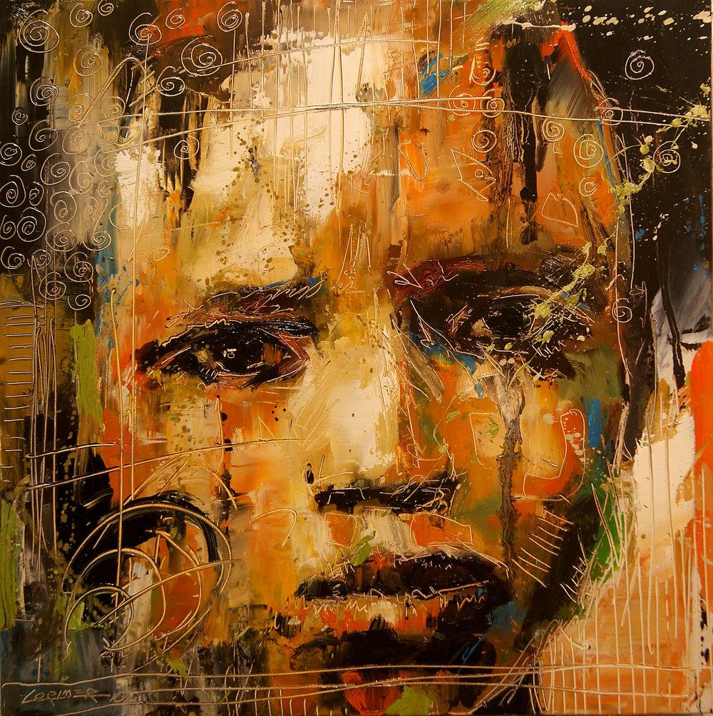 "Boy in Yellow (16"" x 16"")"