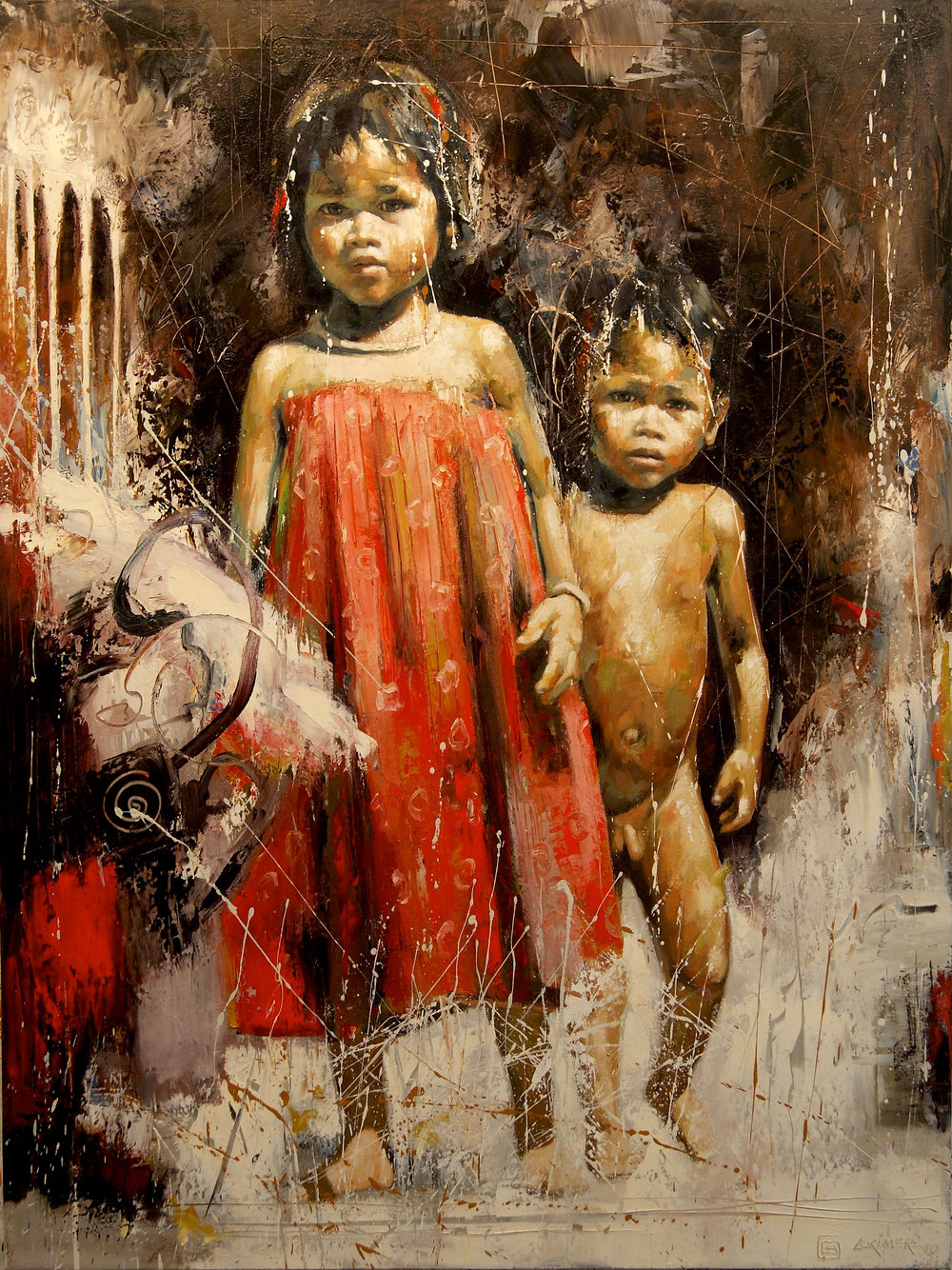 "Kids of Dontro (48"" x 36"")"
