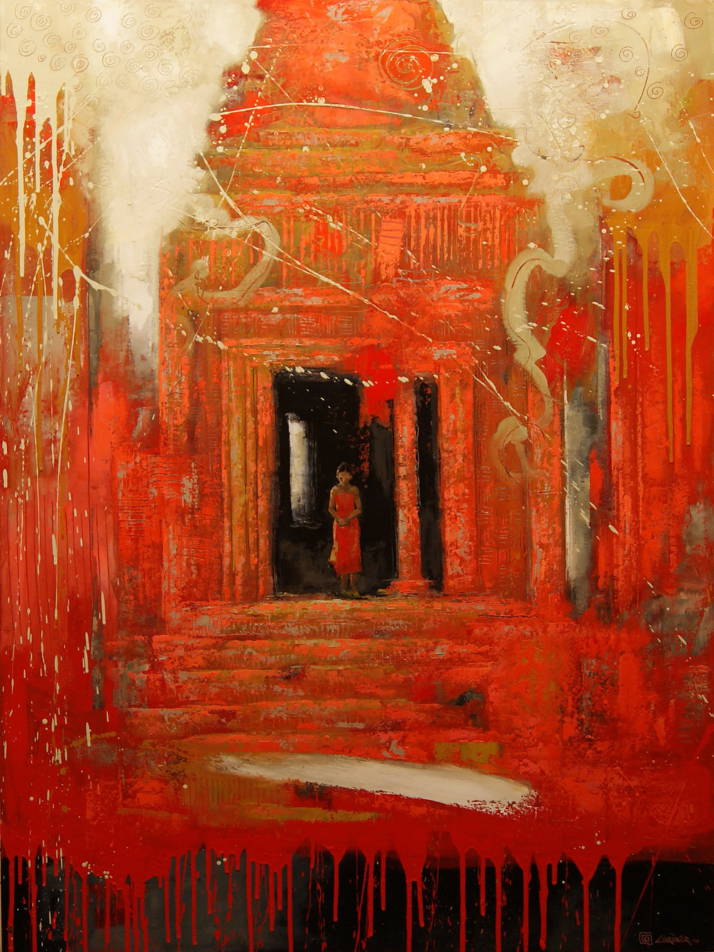 "Red Angkor (48"" x 36"")"