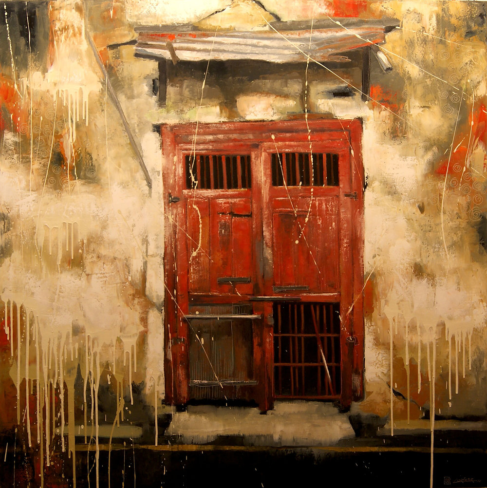 "The Red Door (48"" x 48"")"
