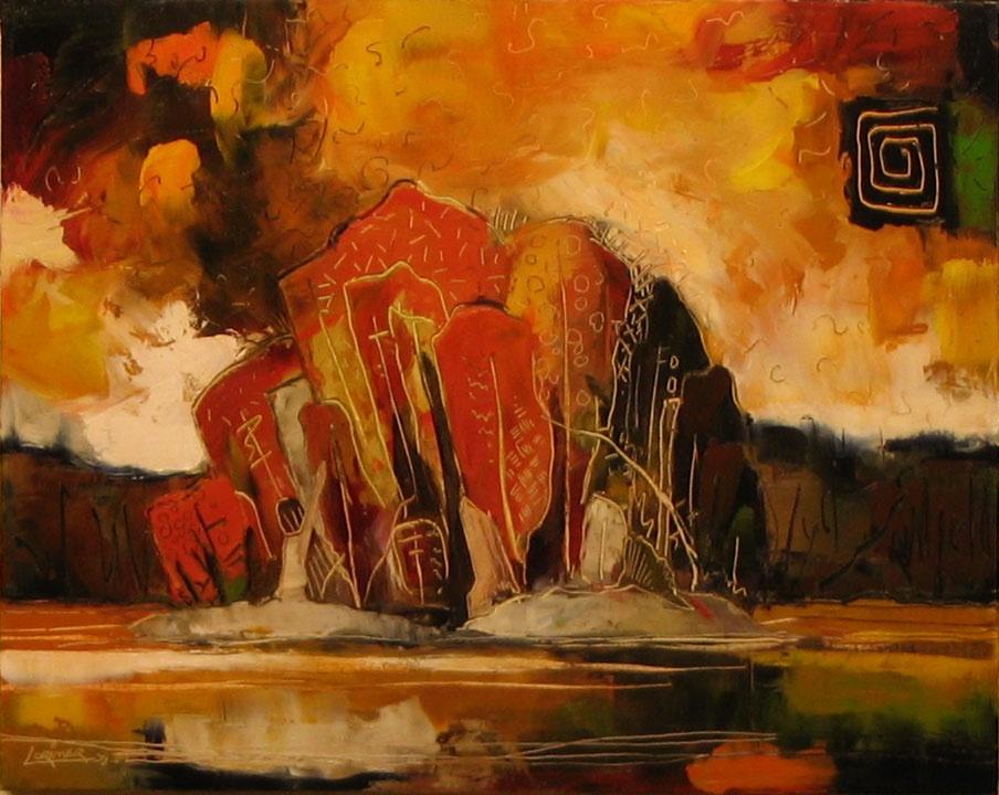 "Autumn Island (20"" x 24"")"