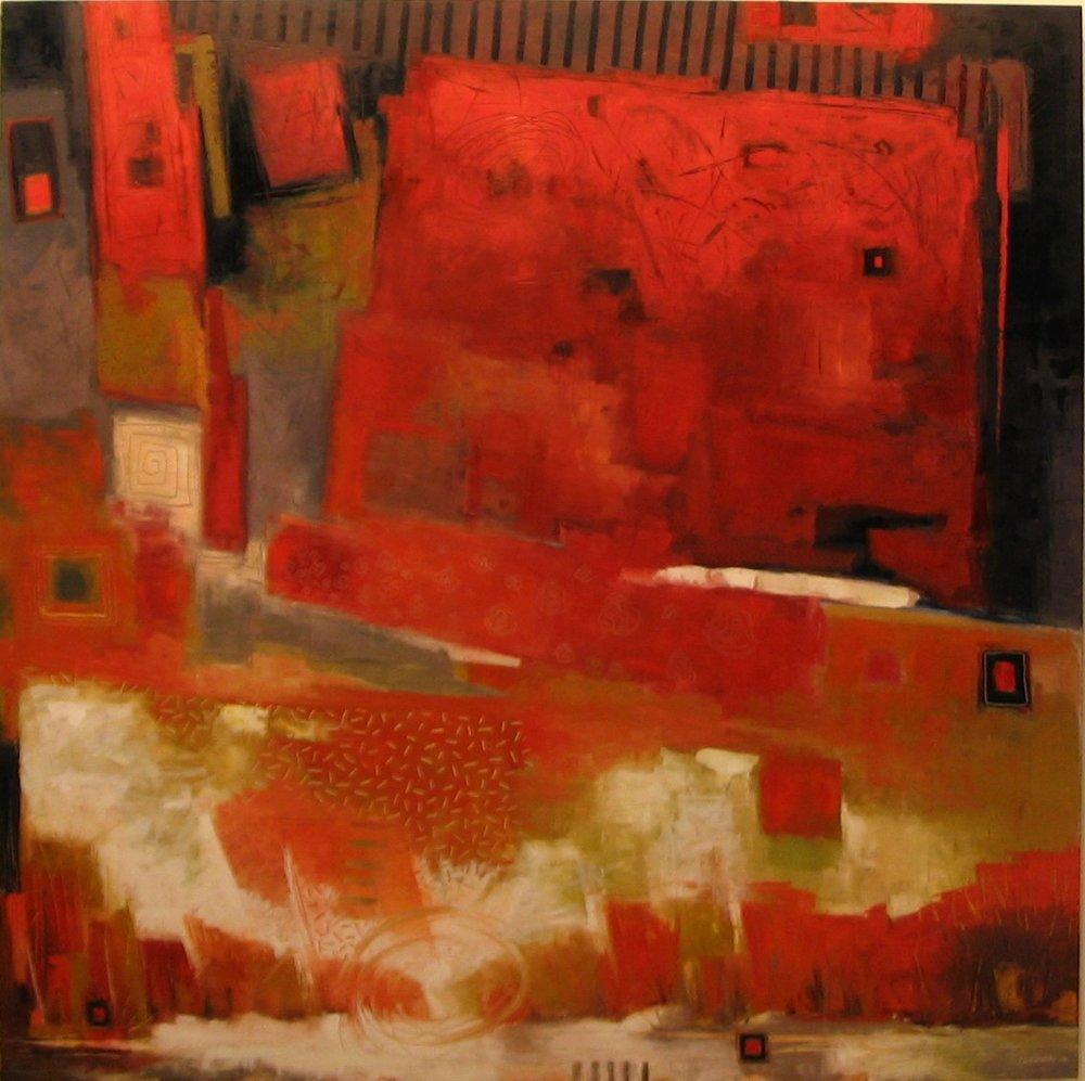 "Red Sky (60"" x 60"")"
