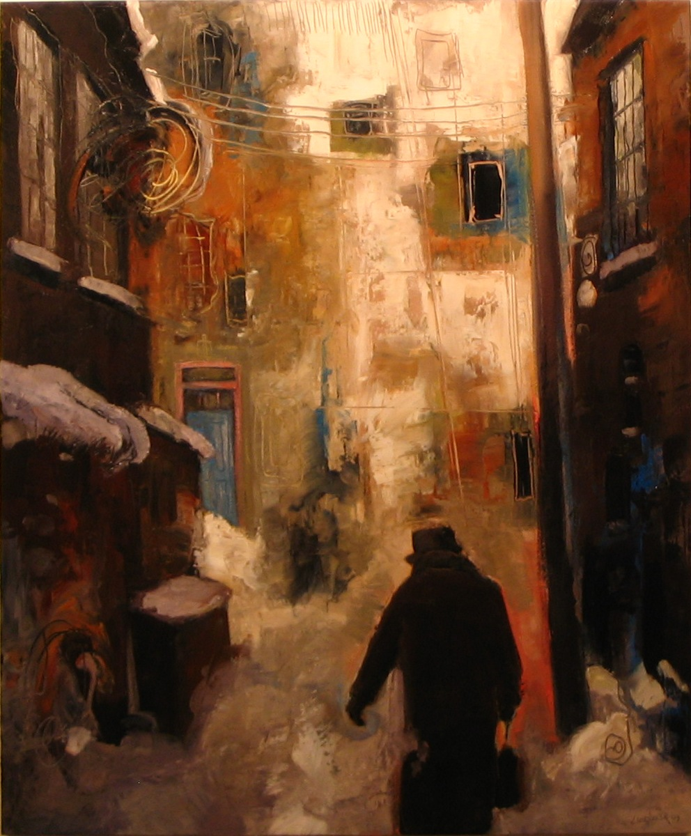 "Walking Home (36"" x 24"")"