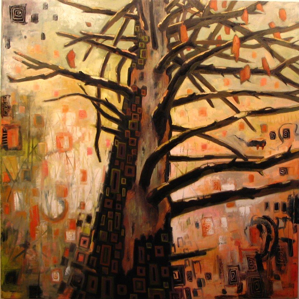"Weathered Pine (60"" x 60"")"