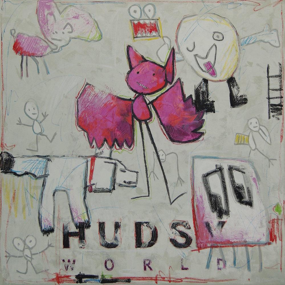 """Hudsy World (40"""" x 40"""")"""