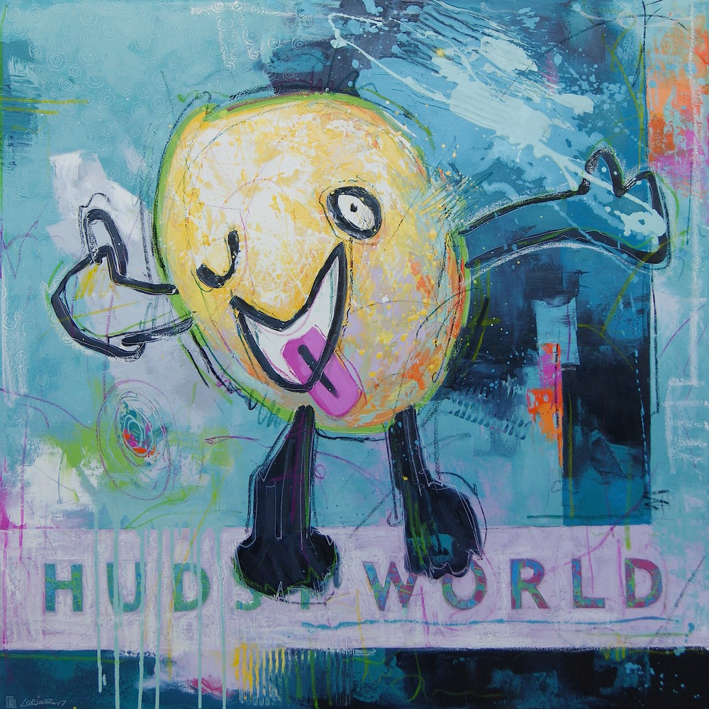 """Laughy (40"""" x 40"""")"""