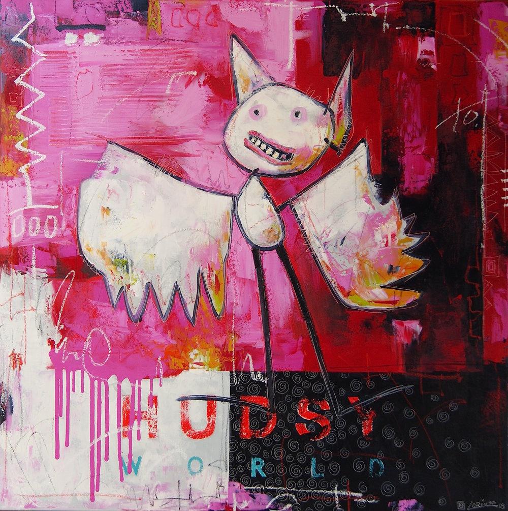 "Bird Beast #3 (40"" x 40"")"