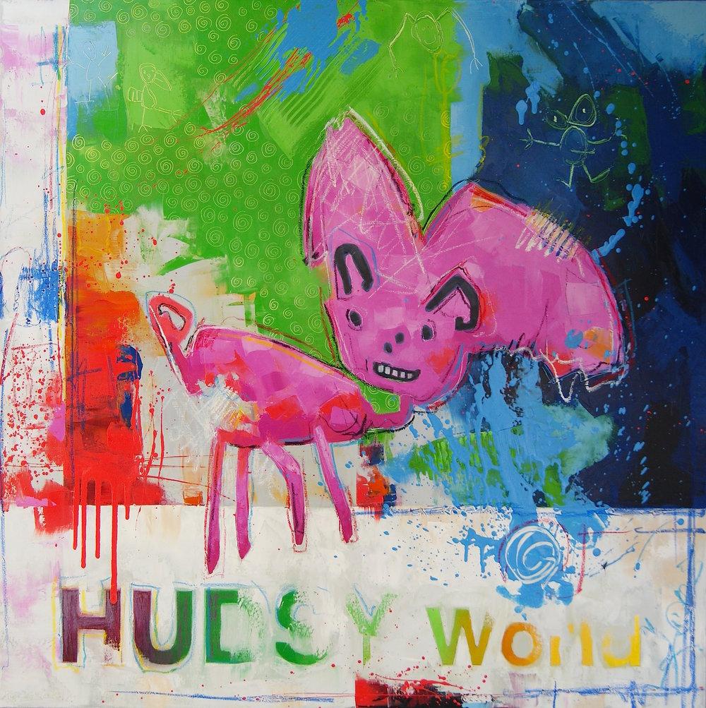 """Pig (42"""" x 42"""")"""