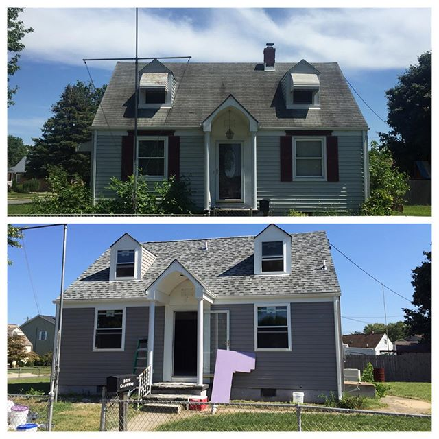 Exterior improvements are complete. New siding, new Windows, new roof