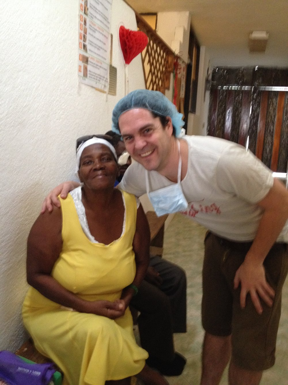 Jaire with patient Fleurima Gracieuse whose vision cured  IMG_4003.JPG