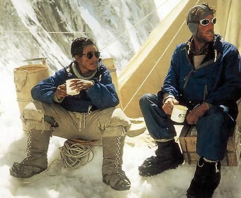 Sir Edmund Hillary and Tenzing Norgay on Everest, 1953