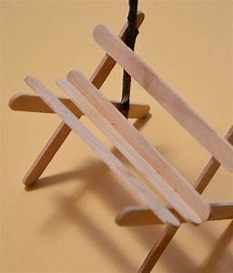 You can even have the kids make a popsicle stick crib.