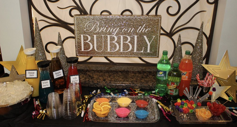 This is a fun and easy way to make the kids feel like they are part of the party. It's great to see their excitement as they make new drink creations. It's wonderful to see how creative they get and they love sharing their recipes with the other kids.