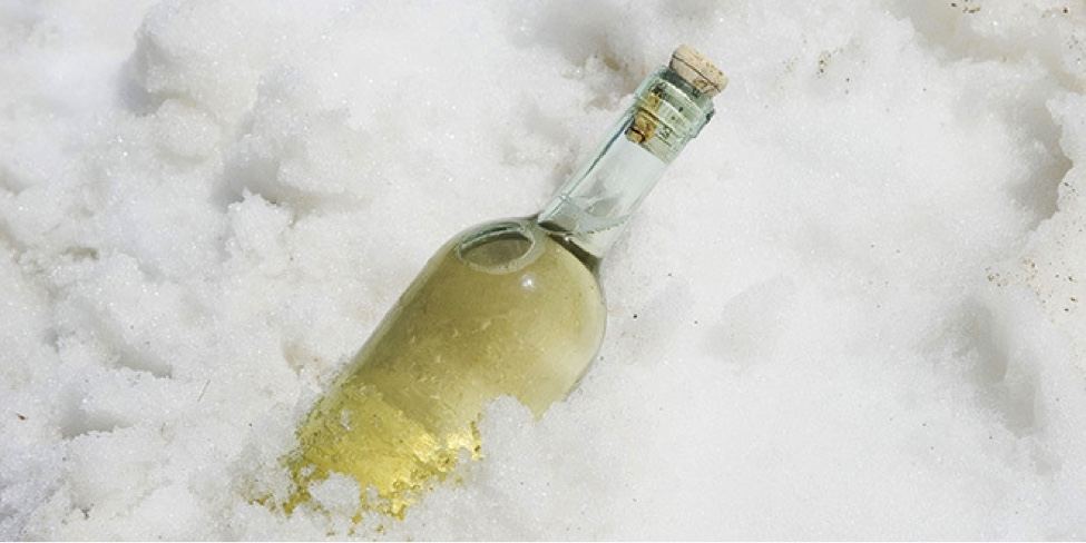 "Free up refrigerator space by putting your champagne and wine outside.  I'd put a table out on my deck the night before the snow fell and wake up to an instant ""snow"" chest.  It was simple and looked pretty too."