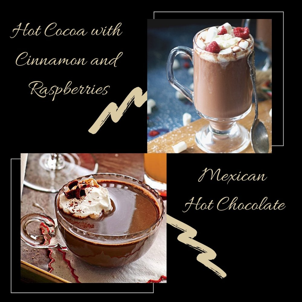 Nothing tastes as good as Hot Chocolate on a cold day. Instead of warming up some milk with mix or syrup, here are two of my favorite recipes. Enjoy!