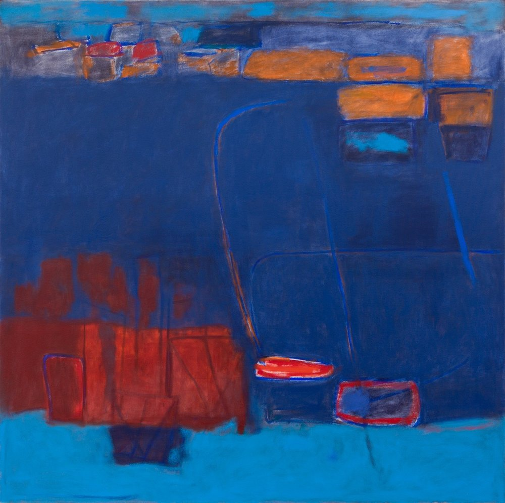 Blue   152x152cm (60x60in) Oil on canvas