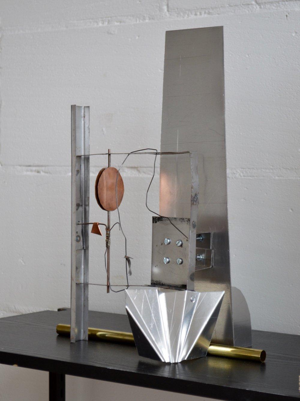 Untitled (Litter)    Height: 385mm (15in)  Steel, aluminium, copper, brass