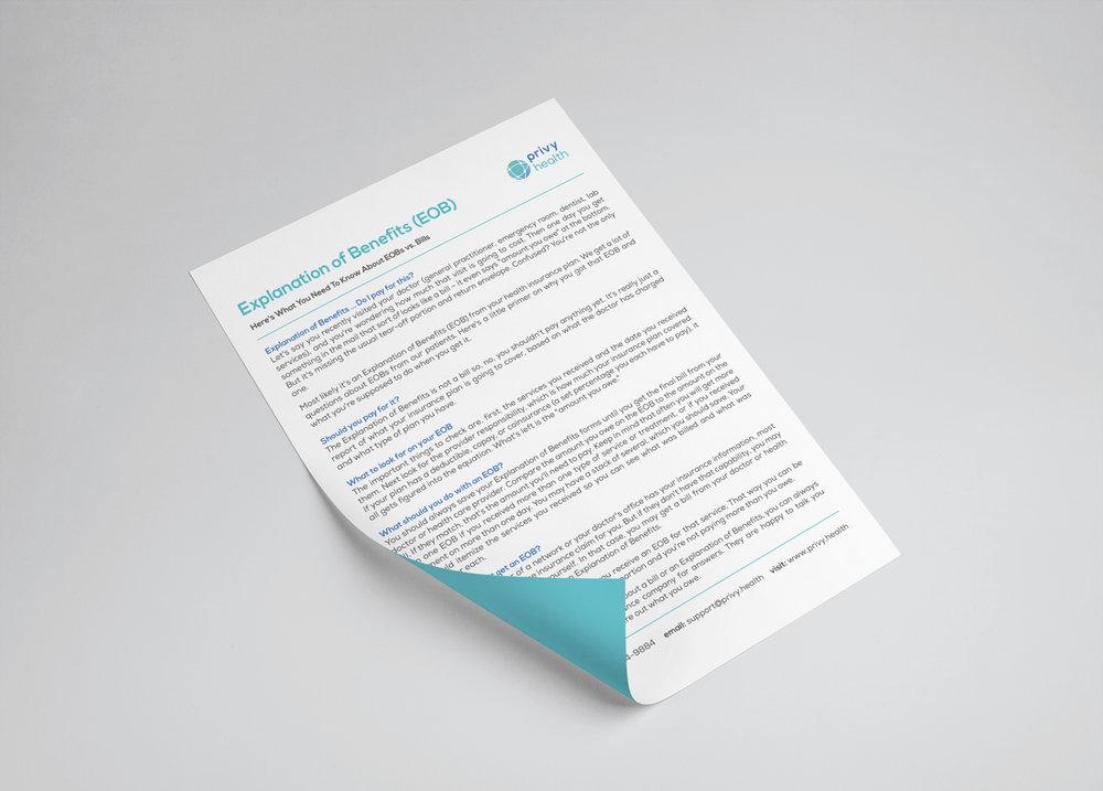 EOB Flyer Design