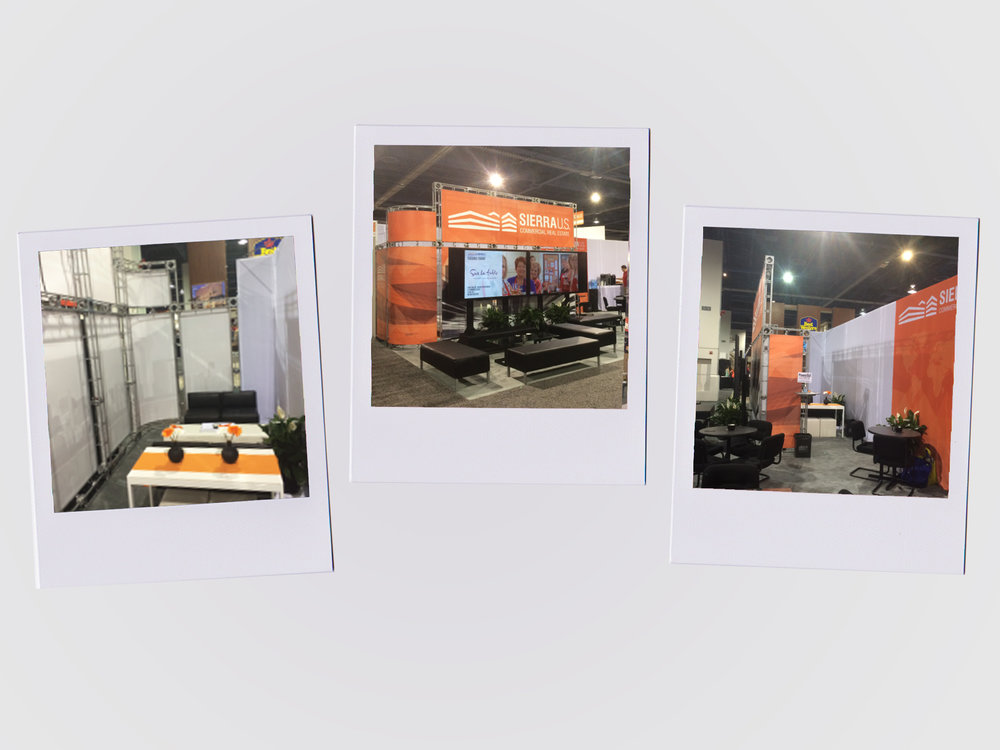 Photos of Final Trade Show Booth  -  Completed with Marketing Team
