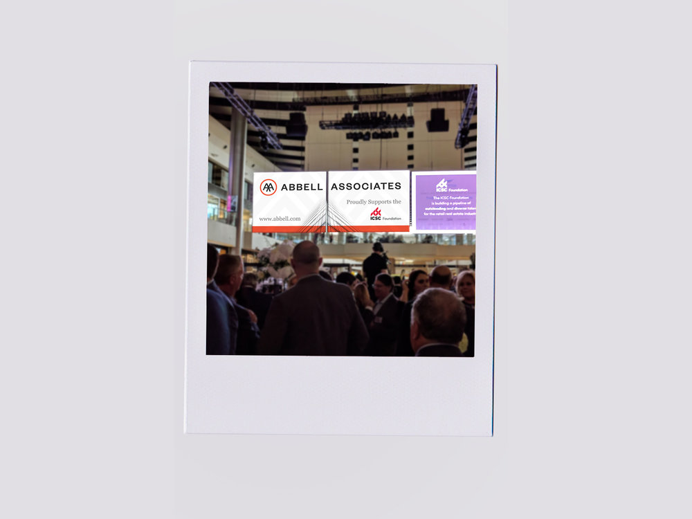 Photo of Gala Event Advertisement on 2 TV screens for International Trade Show