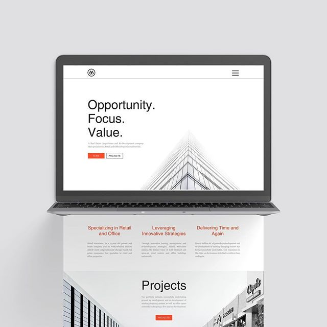 Reminiscing on the the website we did for Abbell Associates last year. This custom website project was a labor of love! Clean, modern, and bold! 👌😍