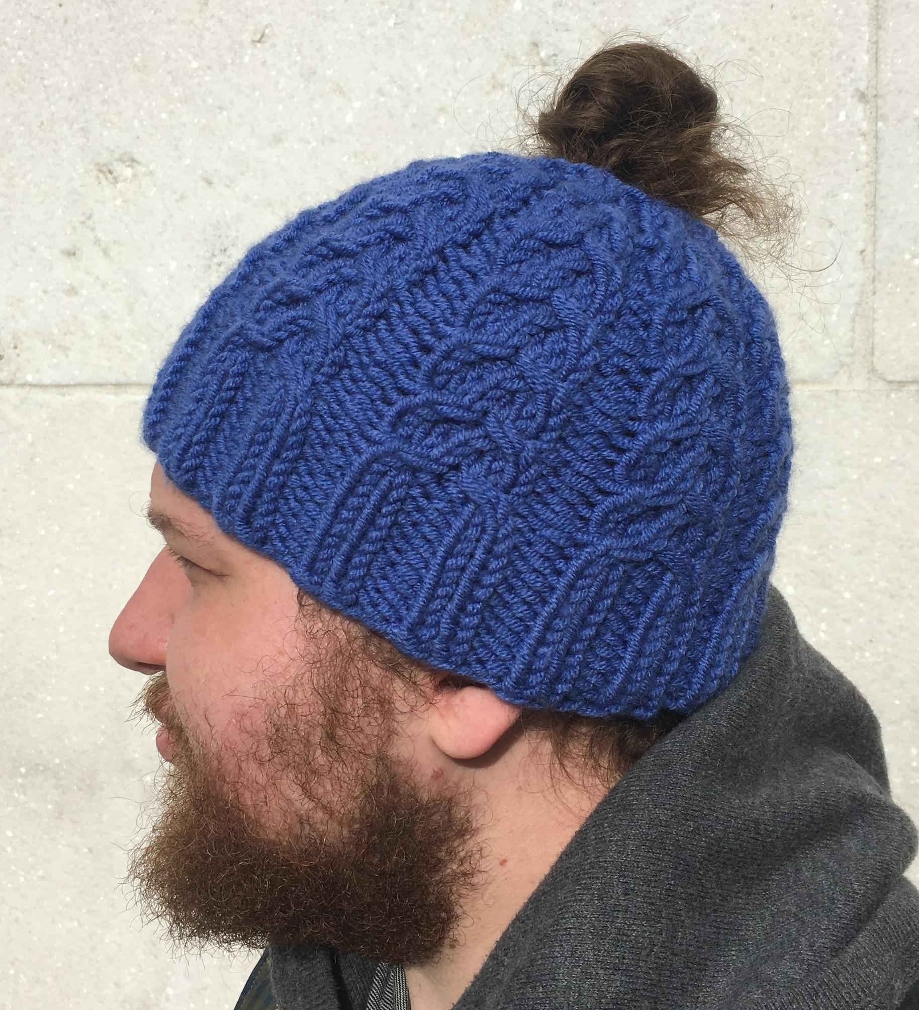 6c9941d0467a93 Wishbone Bun-Hat — Knitacular