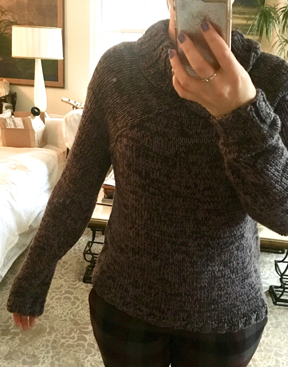 Ridiculous floppy sweater. I am a failure at life. -