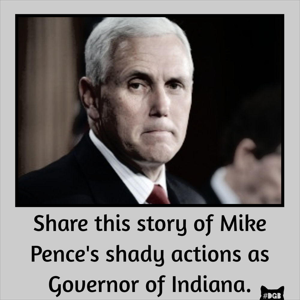 Your DGB for today is to share this    story    about Mike Pence's governing abilities across social media.     If you're like us, you may be looking into our country's post-Trump future and emotionally eating over the thought of President Pence. Well, we can look to Pence's governorship of Indiana as an indication of his style of leadership, which is not all that different than his boss'. You see, Mike has a habit of promising people money he doesn't have, screwing them over, and leaving failed ventures behind. In short, Pence celebrated Indiana's bicentennial by getting the ball rolling on nearly 60 million dollars worth of fancy plazas and various other commemorative construction plans, promising creative budgeting to fund the projects. The money never showed up, and Indiana lawmakers are now bailing out the former Governor on the taxpayers' dime. Great job, Mike.      Today being our 200th Grab, we at DGB looked into constructing our own bicentennial plaza, but, like most people who can't afford something, we didn't spend money we don't have.