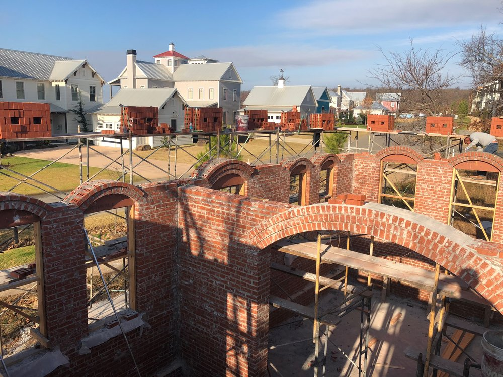 building culture structural brick masonry arch in edison cottage