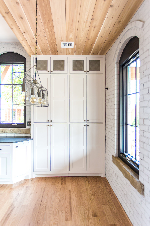 White Farmhouse Kitchen - Storage Ideas - White Cabinets- Building Culture