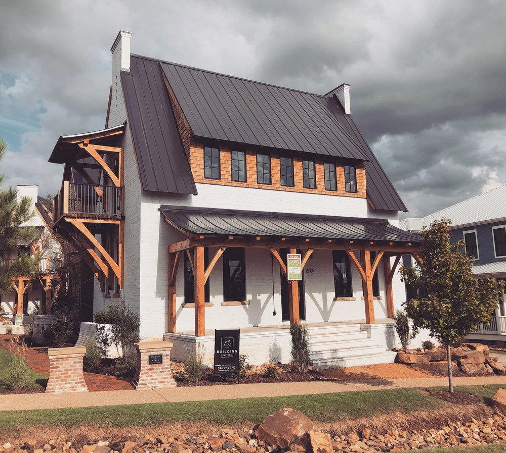 The Edison II - a Structural Brick House - White Limewashed Brick - by Building Culture