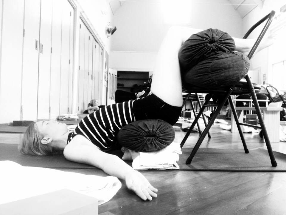 emma viparita dandasana supported