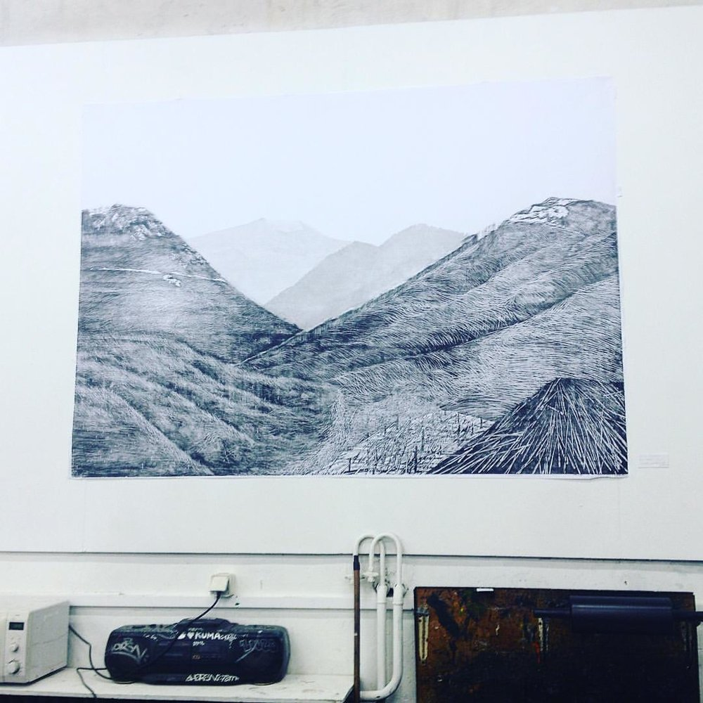 Chelsea Mortonson, bois gravé A l'École nationale supérieure des beaux-arts de Paris