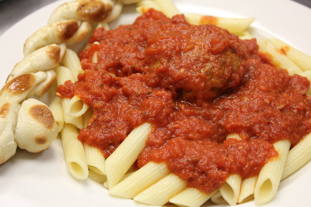 Home made meatballs and pasta sauces