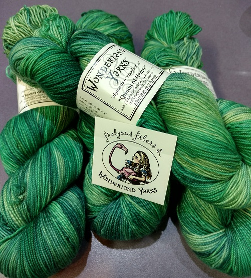 """Queen of Hearts EMERALD""  by Wonderland Yarns."
