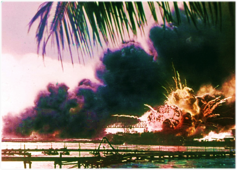 Japanese attack on the U.S. Naval Base at Pearl Harbor - Oahu, Hawaii – December 7, 1941