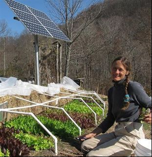 Susana Lein at her 'off-grid' farm Salamander Springs in Rockcastle County.