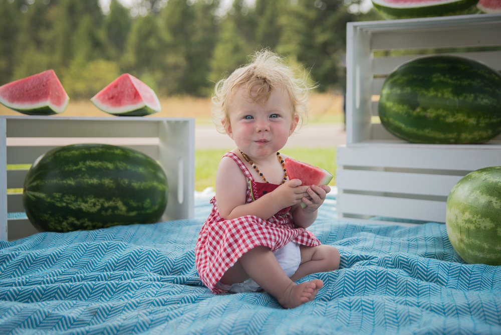 Watermelon PhotoBooth - Whitefish Children Photographer