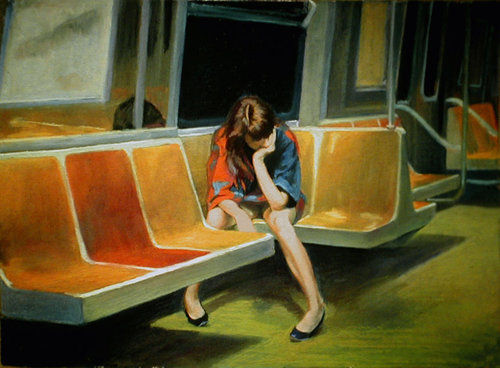 Edward Hopper, Gayle on the F Train