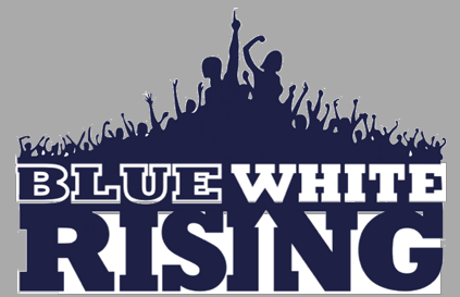 Blue White Rising