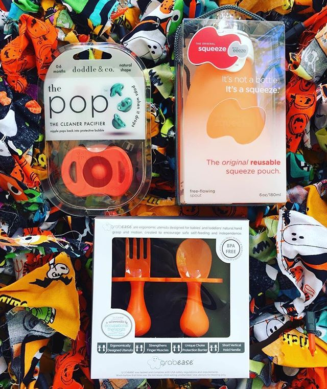 #Repost @spectrumspeech ・・・ 🎉GIVEAWAY!! 🎉 Orange 🍊 you glad it's the weekend? Us too! We are giving away a Halloween 🎃 trio set of: @grabease utensils, a @doddleandcompany pacifier and @theoriginalsqueezecompany food pouch! One winner will receive all 3! All you have to do is:  1️⃣ LIKE this post  2️⃣ FOLLOW @spectrumspeech  3️⃣ Tag a friend or two 👭  Winner will be announced on Monday 10/08/18! Offer valid in US only. Giveaway not sponsored by Instagram. #MsDawnSLP #giveaway #babyshower #orange #halloweenbaby #baby #toddler #blw #babyledweaning #babyled
