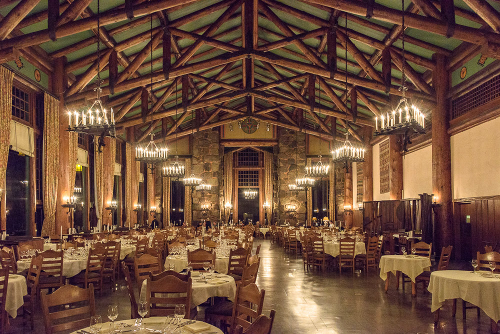 Majestic Yosemite Hotel Dining Room Before Grand Grape Dinner