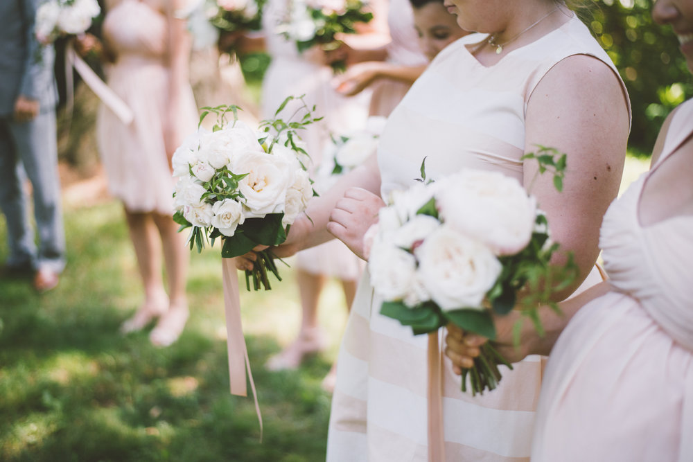 amanda cowley events niagara wedding planner kurtz orchard gracewood estate blush bridesmaids mix and match peony bouquets
