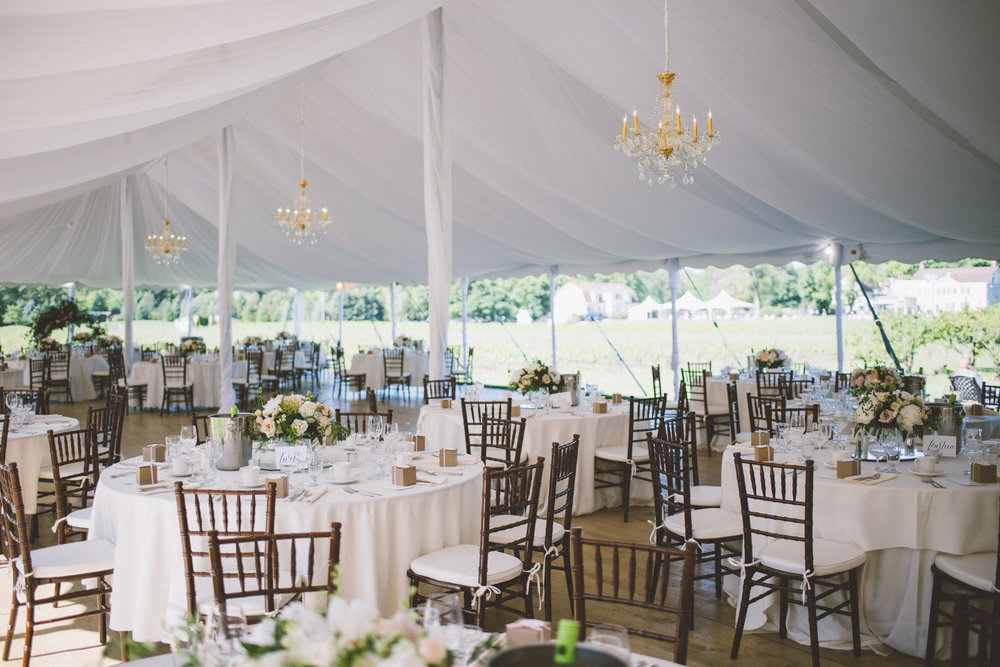 amanda cowley events niagara wedding planner kurtz orchard gracewood estate tented wedding wood floor vineyard chiavari chairs ivory linens